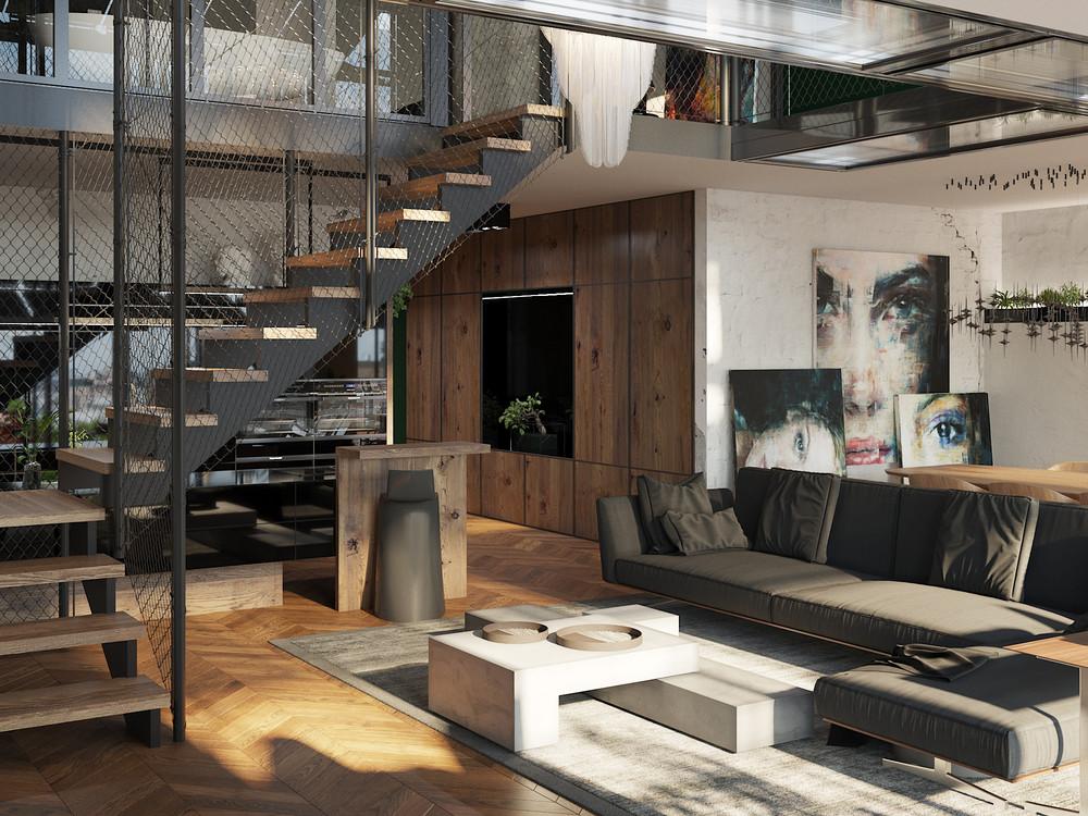 Принципы дизайна двухэтажной квартиры